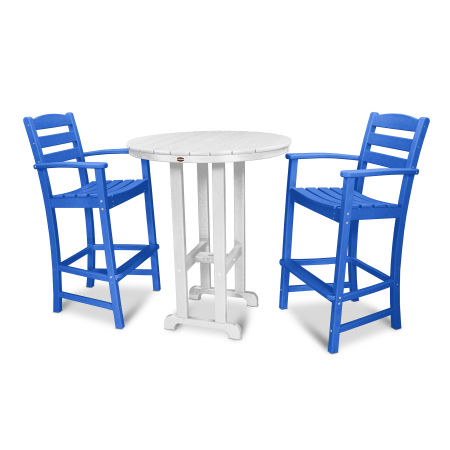 La Casa Café 3-Piece Bar Set in Pacific Blue