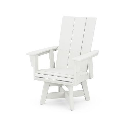 Modern Adirondack Swivel Dining Chair in Vintage White