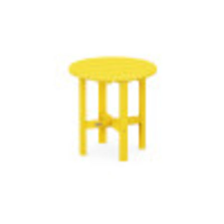 "Round 18"" Side Table in Lemon"