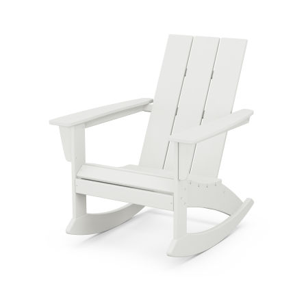 Modern Adirondack Rocking Chair in Vintage White