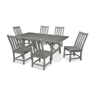 Vineyard 7-Piece Rustic Farmhouse Side Chair Dining Set