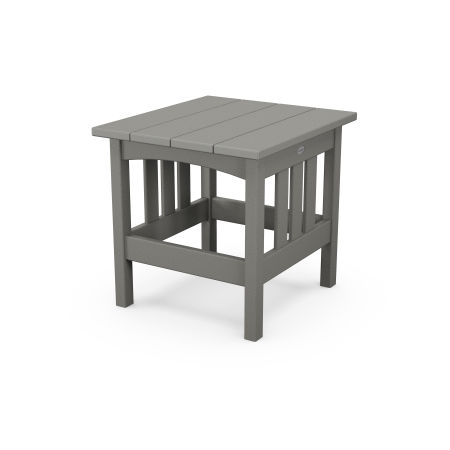 """22"""" x 24"""" End Table in Slate Grey"""