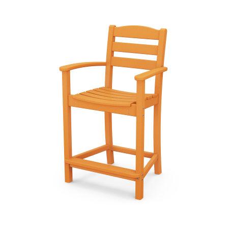 La Casa Café Counter Arm Chair in Tangerine