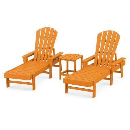 South Beach Chaise 3-Piece Set in Tangerine