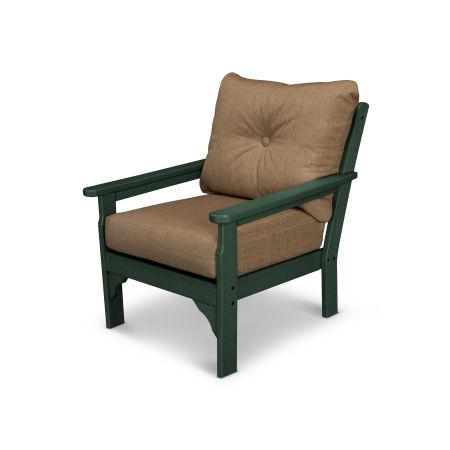 Vineyard Deep Seating Chair in Green / Sesame