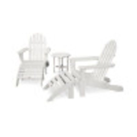 Classic Adirondack 5-Piece Casual Set in White