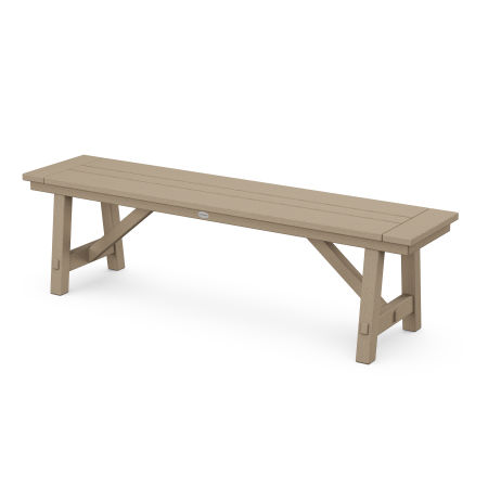"""Rustic Farmhouse 60"""" Backless Bench in Vintage Sahara"""