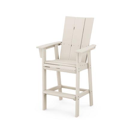 Modern Adirondack Bar Chair in Sand
