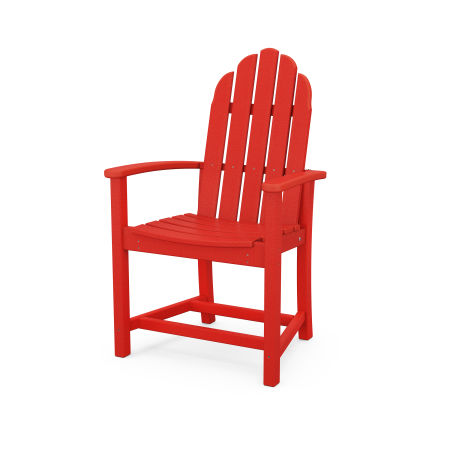 Classic Adirondack Dining Chair in Sunset Red