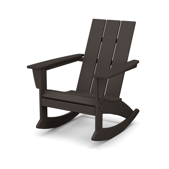 Modern Adirondack Rocking Chair in Vintage Finish
