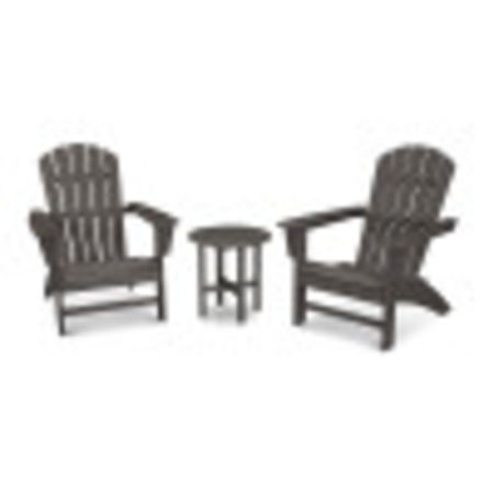 Nautical 3-Piece Adirondack Set in Vintage Coffee