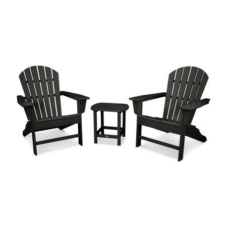 South Beach Adirondack 3-Piece Set in Black