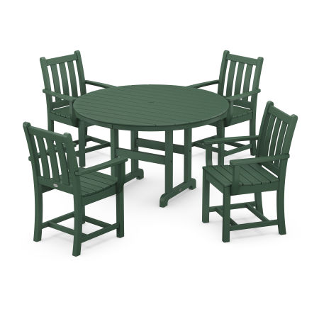 Traditional Garden 5-Piece Dining Set in Green