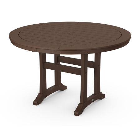 """48"""" Round Dining Table in Mahogany"""