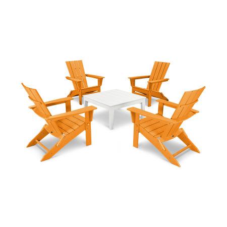 Quattro 5-Piece Conversation Set in Tangerine