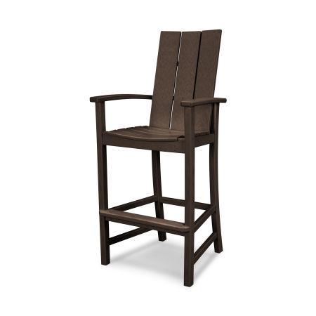 Modern Adirondack Bar Chair in Mahogany