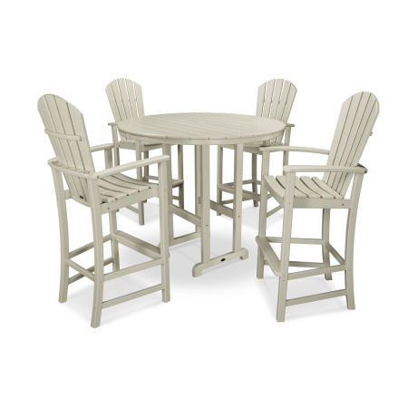 Palm Coast 5-Piece Bar Set in Sand