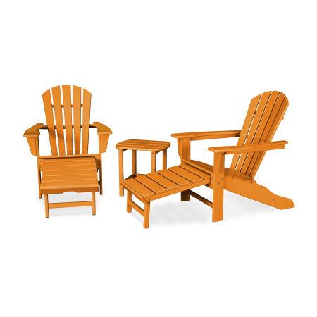 Palm Coast Ultimate Adirondack 3-Piece Set in Tangerine