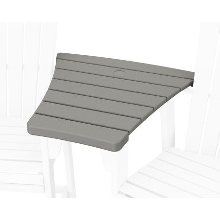 600 Series Angled Adirondack Dining Connecting Table in Slate Grey