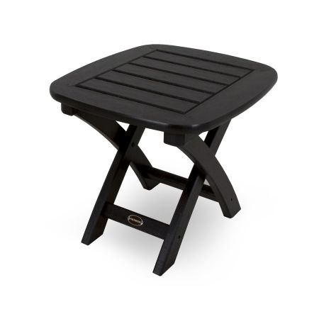 """Nautical 21"""" x 18"""" Side Table in Black"""