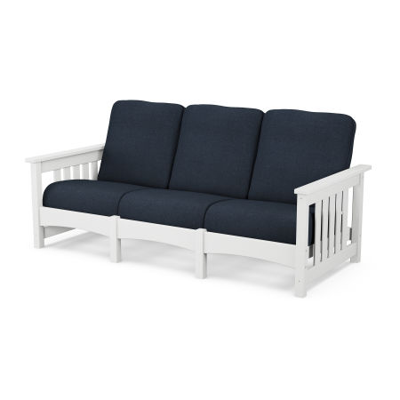 Mission Sofa in White / Marine Indigo