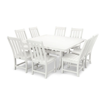Vineyard 9-Piece Dining Set in White