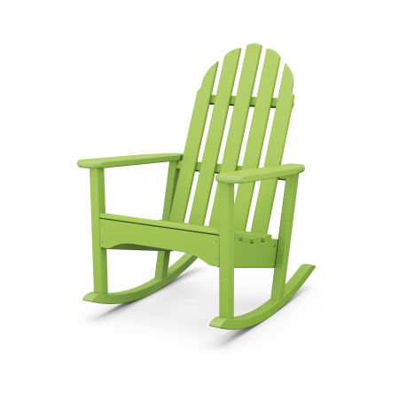 Classic Adirondack Rocking Chair in Lime