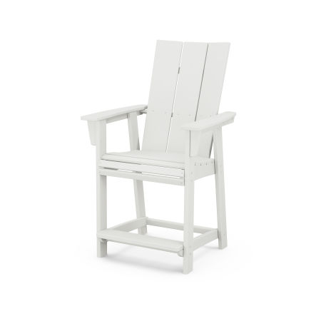 Modern Adirondack Counter Chair in Vintage White