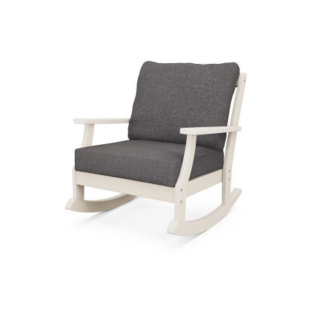 Braxton Deep Seating Rocking Chair in Sand / Ash Charcoal