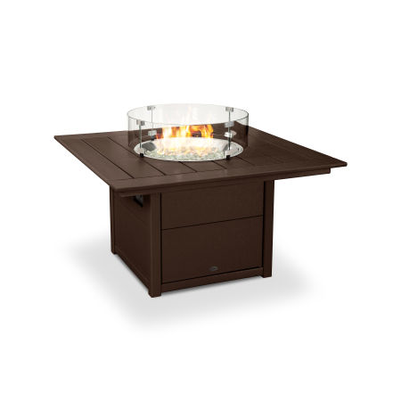 "Square 42"" Fire Pit Table in Mahogany"