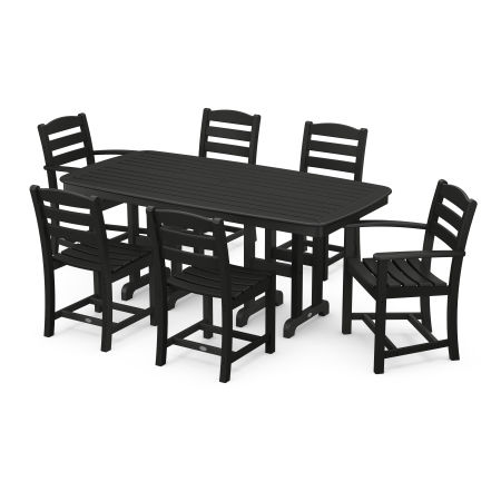 La Casa Café 7-Piece Dining Set in Black