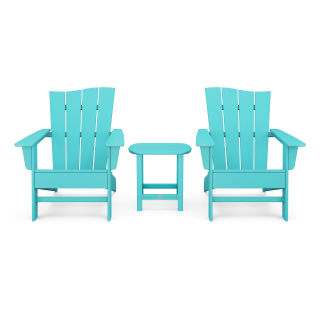 Wave 3-Piece Adirondack Chair Set