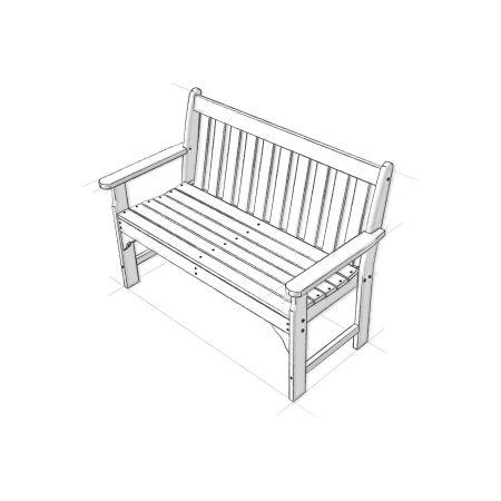 "Vineyard 48"" Bench in Vintage White"