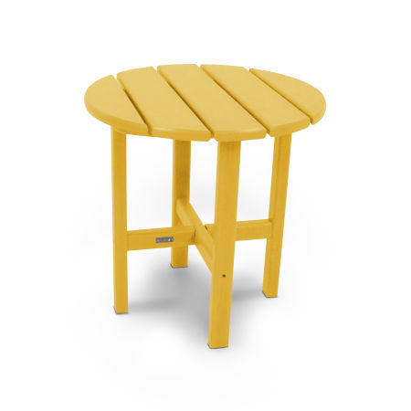 "18"" Round Side Table by Ivy Terrace™ in Lemon"