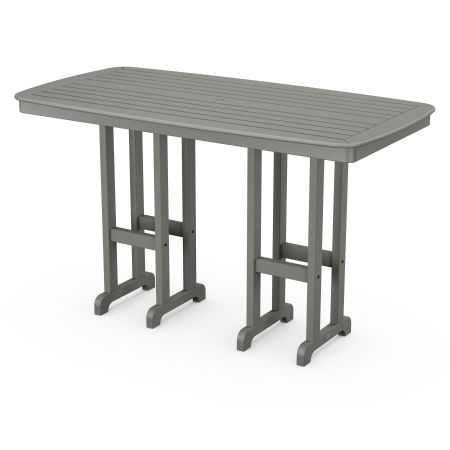 "Nautical 37"" x 72"" Bar Table in Slate Grey"