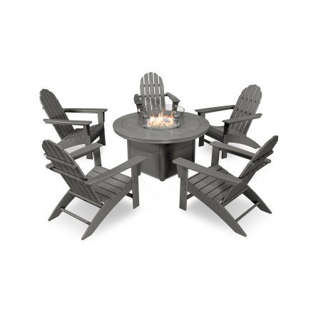 Vineyard Adirondack 6-Piece Chat Set with Fire Pit Table