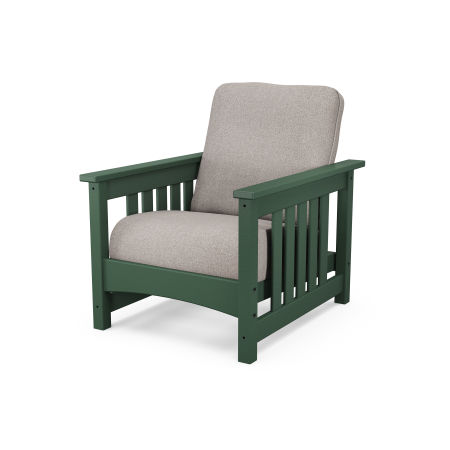 Mission Chair in Green / Weathered Tweed
