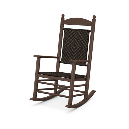 Jefferson Woven Rocking Chair in Mahogany Frame / Cahaba