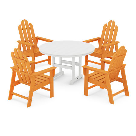 Long Island 5-Piece Dining Set in Tangerine