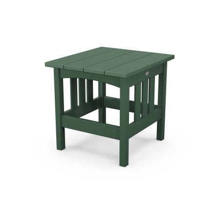 """22"""" x 24"""" End Table in Green"""