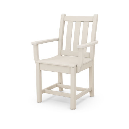 Traditional Garden Dining Arm Chair in Sand