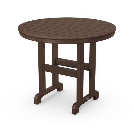"La Casa Café Round 36"" Dining Table in Mahogany"