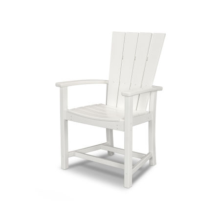 Quattro Adirondack Dining Chair in White