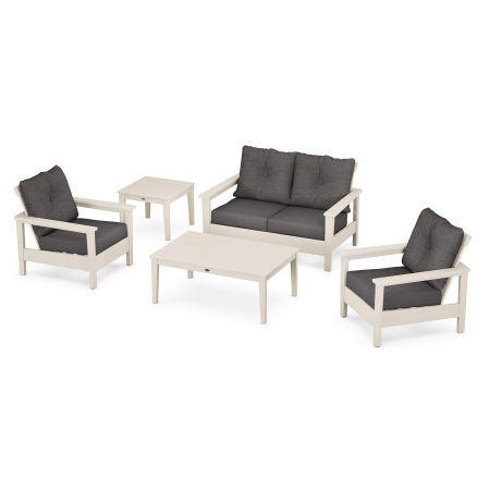 Prescott 5-Piece Deep Seating Set in Sand / Antler Charcoal