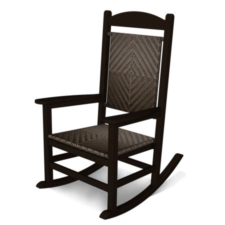 Classics Woven Rocker by Ivy Terrace™ in Mahogany / Cahaba