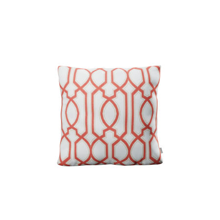 "18"" Outdoor Throw Pillow in Chelsey Trellis Coral"