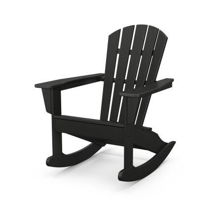 Palm Coast Adirondack Rocking Chair in Black