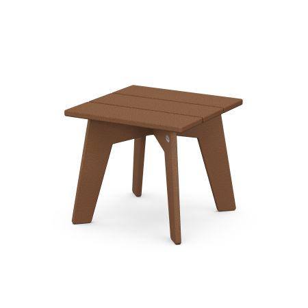 Riviera Modern Side Table in Teak