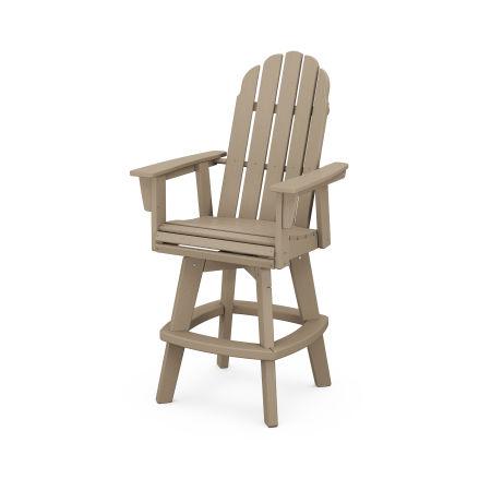 Vineyard Adirondack Swivel Bar Chair in Vintage Sahara