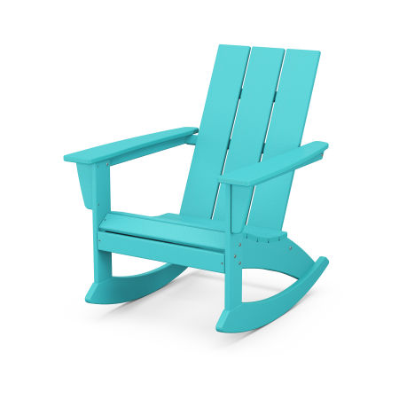 Modern Adirondack Rocking Chair in Aruba